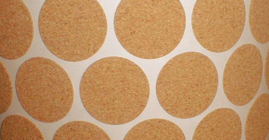 Cork Backing with Adhesive for Crafts, Coasters & Protective Pads