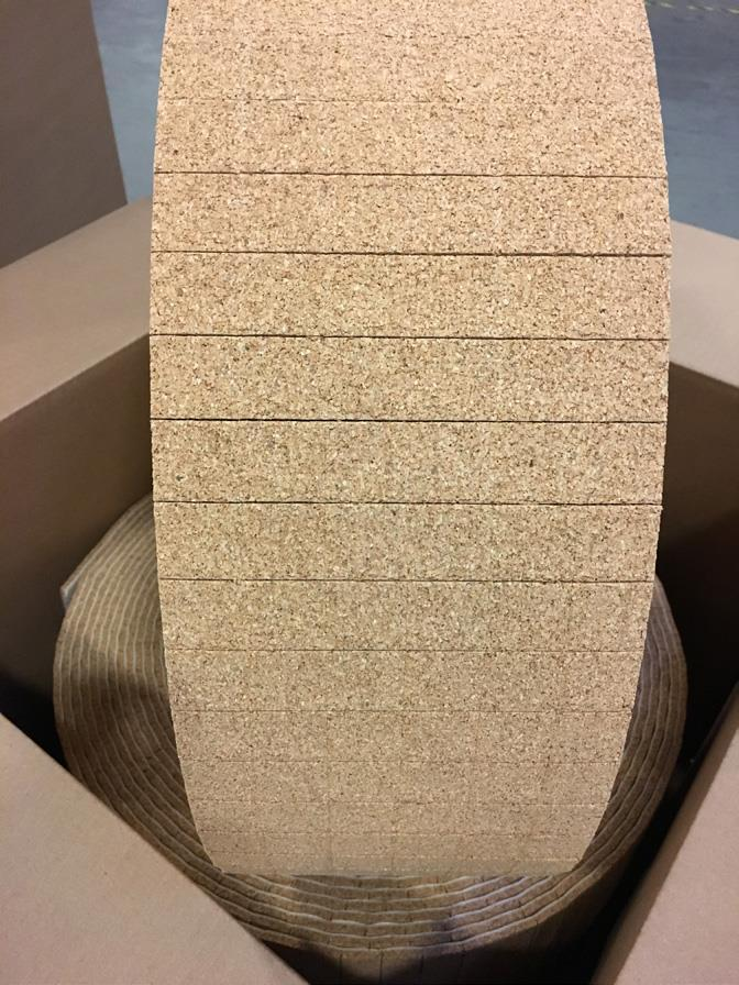 Roll of Cork Glass Separator Pads